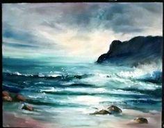 original Gail Grant California  seascape oil painting light sky impressionist #Impressionism