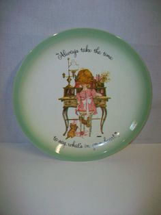 Holly Hobbie Collector's Plate Always take the time to say what's in your heart