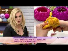 DIY: Comment réaliser facilement une jolie corbeille au crochet. INFOS Fil jersey et crochet numéro 9 Mailles: serrées, coulées, en l'air Si vous avez aimé, ...