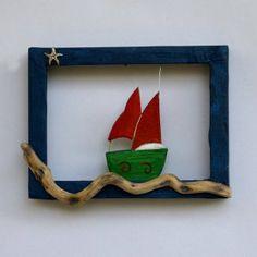 Ship and driftwood Konica Minolta, Driftwood Art, Handicraft, Digital Camera, Objects, Christmas Ornaments, Holiday Decor, Frame, Handmade