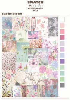 Subtle Bloom – Autumn/Winter 2014 Trend This is a beautiful soft story that focuses on feminine, blurry flowers just offering a suggestio. 2015 Fashion Trends, 2014 Trends, Colour Schemes, Color Trends, Summer Colors, Color Theory, Colorful Decor, Wedding Trends, Color Inspiration