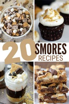 S'mores aren't just for camping! Enjoy your favorite fireside treat any day of the year, make cookies, cake and even ice cream S'mores recipes. Yum! #thecraftyblogstalker #smores #smoresrecipes Desserts For A Crowd, Great Desserts, Dessert Ideas, Delicious Desserts, Yummy Food, Drink Recipes, Baking Recipes, Snack Recipes, Dessert Recipes