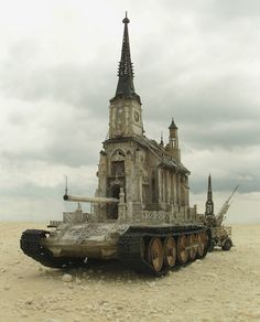 Kris Kuksi's Churchtanks