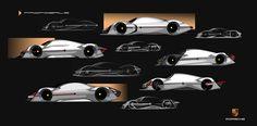 Porsche Fuel-Cell Vehicle Exterior Design on Behance