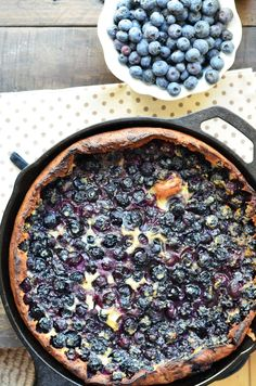 Blueberry Lemon Dutch Baby from @Chef Dennis -  {A Culinary Journey}