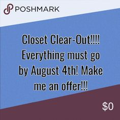CLOSET CLEAR-OUT!! Everything must go by August 4th!!! Make me an offer! Free People Other