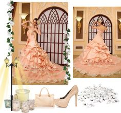 """""""Lace Beading A-Line / Princess Sweetheart Organza Cathedral Train Wedding Dress"""" by weddingdressesforyou ❤ liked on Polyvore"""