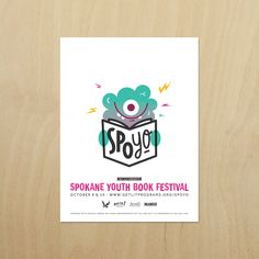 Branding, characters and collateral designed for the inaugural Spokane Youth Book Festival (SpoYo), produced by EWU and Get Lit!
