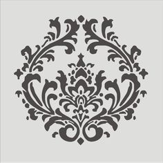 Items similar to Damask -Reusable Stencil Design- 6 Sizes Damask Pillows French Signs Fabric Stencils on Etsy Stencil Fabric, Damask Stencil, Stencil Patterns, Stencil Designs, Damask Patterns, Stenciling, Wallpaper Stencil, Decoration Baroque, French Signs