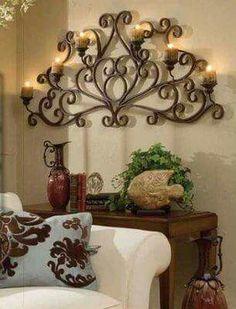 Candle Sconces Wall Decor wrought iron wall decor - good decorating ideas | boho / loves