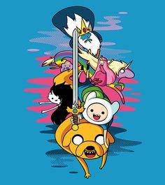 Adventure time Camiseta  Tshirt por Frayel en Etsy, €20.00