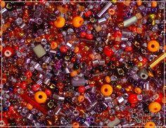 Burning Provance Seed Bead Mix, 50 g (7405) by BeadsOfBohemia on Etsy https://www.etsy.com/listing/122939473/burning-provance-seed-bead-mix-50-g-7405