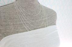 Le chouchou de ma boutique https://www.etsy.com/ca-fr/listing/467773810/collier-multi-rangs-chaine-argent-5