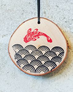 Koi Fish Holiday Ornament // Japanese Wave Ornament // Koi Fish Ornament // Zen Ornament // Martial Arts Wood Ornament // Budo by PolishTheStone on Etsy https://www.etsy.com/listing/497608779/koi-fish-holiday-ornament-japanese-wave