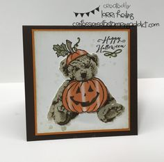 Pumpkin Bear Card ::