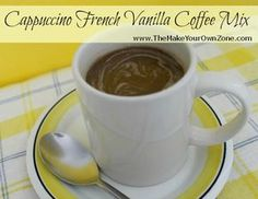 Make a quick and delicious cup of coffee with this homemade instant Cappuccino French Vanilla Coffee Mix - great served hot or served cold over ice,