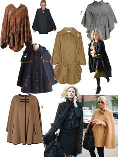 Top 5 cape jackets and coats to wear to work. Cape Jacket, Cape Coat, Cape Pattern, Capes, Simply Beautiful, Work Wear, Muse, Sewing Projects, Costumes