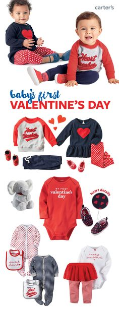 Your one-stop shop for baby's first Valentine's day! Easy outfit sets, sleep & play, bodysuits, shoes & little extras. We've got your little loves covered!