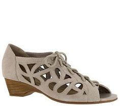 Bella Vita Leather Lace-up Sandals - Pixie