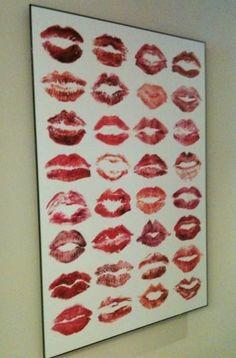 "Bachelorette party ""guest log""- sign your lip mark."