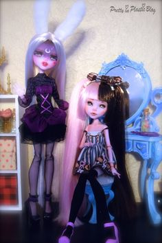 This is my first post to the blog! A photo of our customized Monster High Draculaura dolls together! - Nico