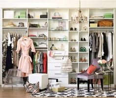 """A dressing room """"Mom Cave."""" I used to have one of these and then it became the nursery. Oh how I miss it!"""