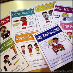 Standards for Mathematical Practice Kid Friendly posters