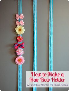 How to Make a Hair Bow Holder - TheRibbonRetreat.com This is also a giveaway!