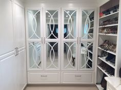 How about a glamorous closet of your own?  Custom O'verlays on doors is easy to do and affordable too.