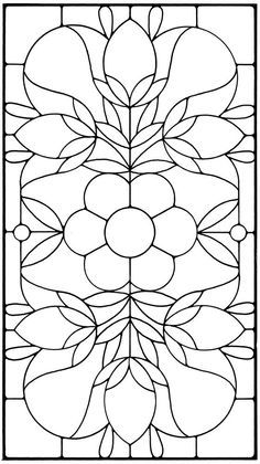 coloring pages - Floral Stained Glass Pattern Book Stained Glass Quilt, Stained Glass Flowers, Faux Stained Glass, Stained Glass Panels, Leaded Glass, Stained Glass Patterns Free, Stained Glass Designs, Stained Glass Projects, Mosaic Patterns