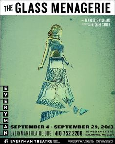 The Glass Menagerie poster for Everyman Theatre in Baltimore