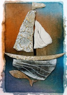 Porcelain on handmade paper; http://www.geraldineorourke.com/pages/large_First%20boat_page.html