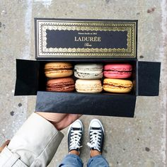 Places to visit see in Paris, France. Macarons at Laduree in Paris. Macarons, Laduree Macaroons, Macaron Cookies, Macaron Recipe, I Love Food, Good Food, Yummy Food, Junk Food, Anna And The French Kiss