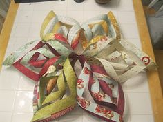 Christmas Snowflake Tutorial made from scrapbook paper