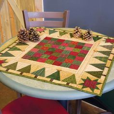 The simple design of Holiday Games, by Jen Daly, is perfect for a favorite collection of scraps. And, who doesn't love scrap quilt patterns? Don't be afraid to mix quilting cottons and flannels. You can even add quilting embellishments, like additional bu Scrap Quilt Patterns, Christmas Quilt Patterns, Christmas Sewing, Noel Christmas, Christmas Quilting, Christmas Patchwork, Christmas Tables, Purple Christmas, Coastal Christmas