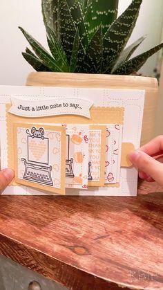 Happy Birthday Handmade Cards, Creative Birthday Cards, Simple Birthday Cards, Handmade Thank You Cards, Birthday Cards For Boyfriend, Fancy Fold Cards, Unique Cards, Lawn Fawn, Decoration