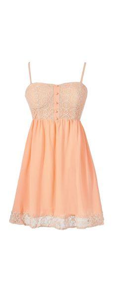 Jodie Peach Circle Lace Bustier Dress....Sooo cute!