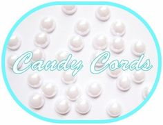 1000 - 8mm WHITE Flatback Pearls Embellishments Scrapbooking Letter Art UK