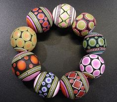 Polymer Clay - Donna Kato Polymer Clay Cane Bracelet by Tales from the land of Pinto, via Flickr