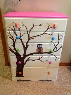 DIY Owl dresser.