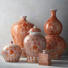 Coral and White Chinoiserie Dragon Double Pumpkin Vase – Chinoiserie Chic – Home Decor Casual Home Decor, Unique Home Decor, Home Decor Accessories, Decorative Accessories, Decorative Accents, Country Decor, Rustic Decor, Rustic Wood, Country Style