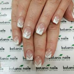 French white nail art with a twist
