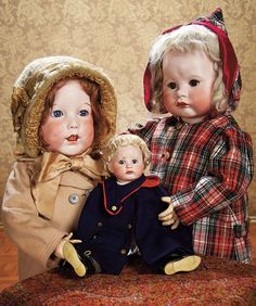 Theriault's Antique Doll Auctions. All 3 dolls by SFBJ.