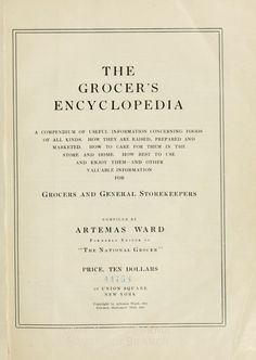 The Grocers Encyclopedia
