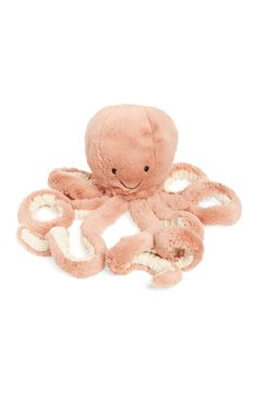 This adorable plush octopus with eight floppy tentacles makes for the perfect playtime companion.