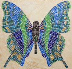 Butterfly mosaic          #animals #mosaic