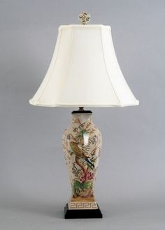 Antiquetablelamps porcelain table lamp antique lamps and 27500 reproduction bird paradise porcelain lamp 30 birds flowers mozeypictures Choice Image