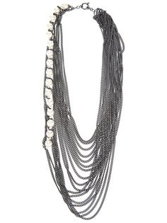 MELANIE GEORGACOPOULOS Multi Chain And Pearl Necklace