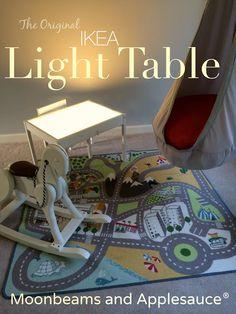 Moonbeams and Applesauce: The Original DIY Ikea Light Table