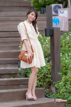 016-ZF0026 Blink Pokka Dress ราคา 390